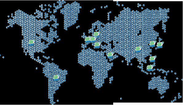Bleu Blannc Coeur Worldwide presence