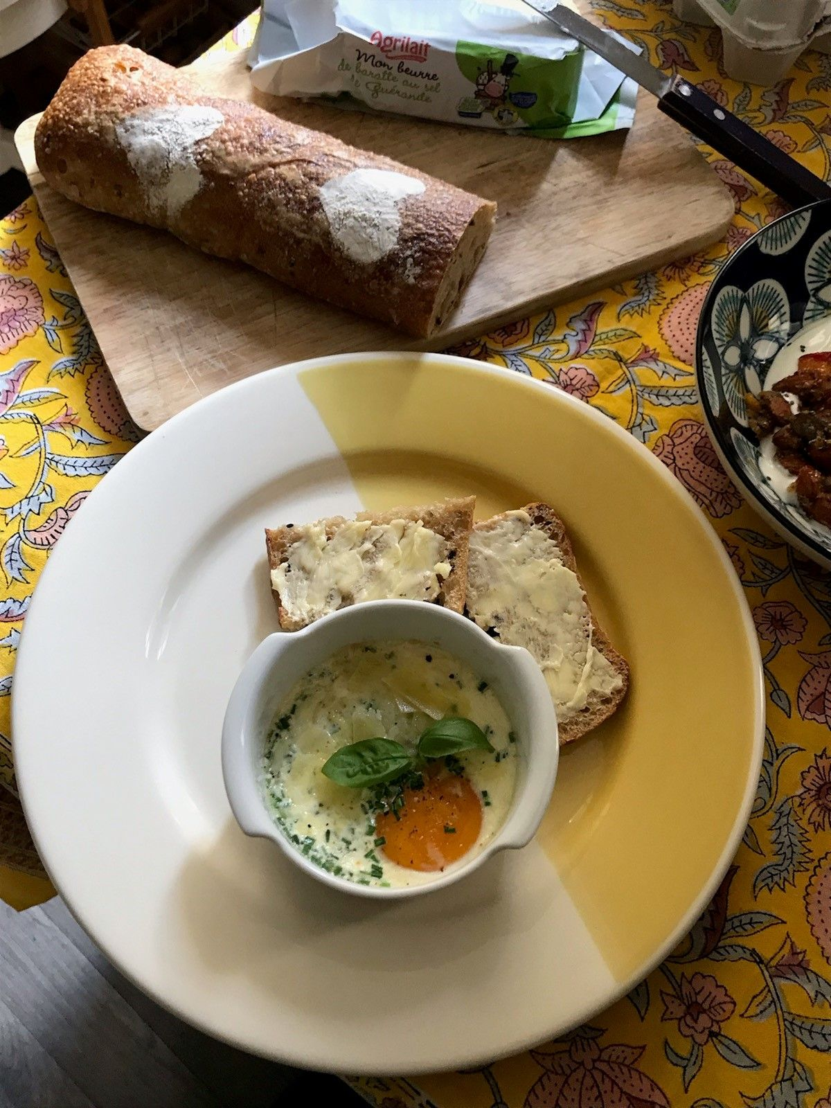 oeuf cocotte tartine