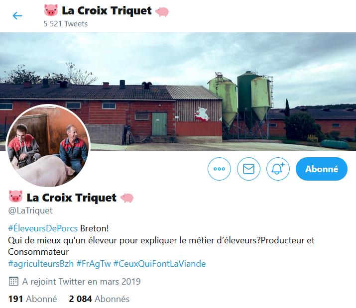 compte twitter La Croix Triquet